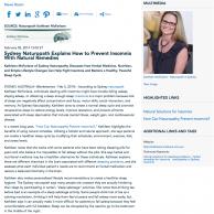naturopath, insomnia, sleeping problems, natural medicine, Kathleen McFarlane